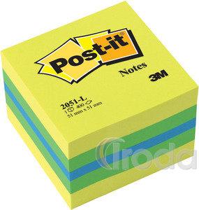 Öntapadós jegyzettömb 51x51 neon citrom 400lap 3M Post-it