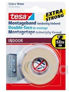 Ragasztószalag Tesa kétoldalas beltéri montázs1,5fmx19.mm55740 (56031)