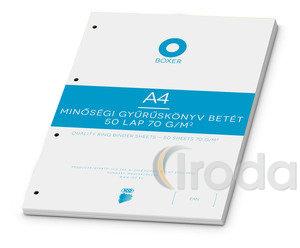 Gyűrűskönyv betét ICO Boxer A4 vonalas 50 lapos, 4 lyukú
