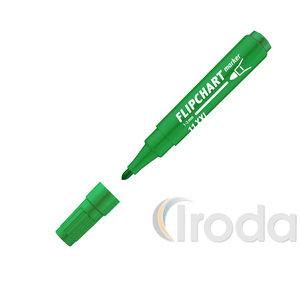 ICO flipchart marker 11 XXL zöld, kerek csúcsos