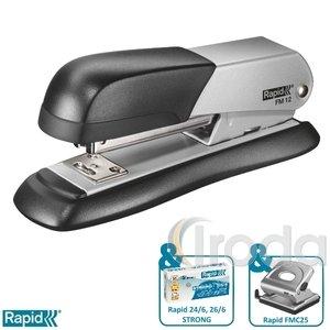 Tűzőgép Rapid FM12 fém ezüst max. 25 laphoz 5000274