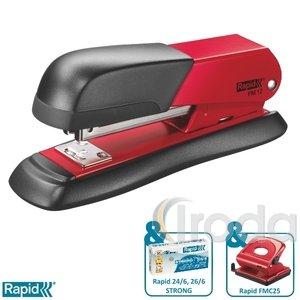 Tűzőgép Rapid FM12 fém piros max. 25 laphoz 5000276