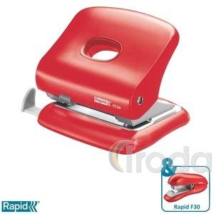 Lyukasztó Rapid FC30 élénk piros max. 30 laphoz 5000360